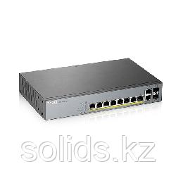 "Гибридный Smart L2 коммутатор PoE+ для IP-видеокамер Zyxel NebulaFlex Pro GS1350-12HP, rack 19"", 10x"