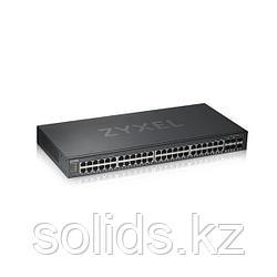 Гибридный Smart L2 коммутатор Zyxel NebulaFlex GS1920-48v2, 44xGE, 4xCombo (SFP/RJ-45), 2xSFP, автон