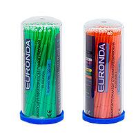 Микроаппликаторы стоматологические Clean+Safe одноразовые Regular зеленые + оранжевые 1туба-100шт