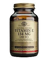 Витамин Е, 200 IU, 134 мг, 100 вегетрианских капсул