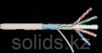 Кабель FTP 4 пары Кат.6 одножильный медный 0,57мм внутренний PVC слоновая кость 305м