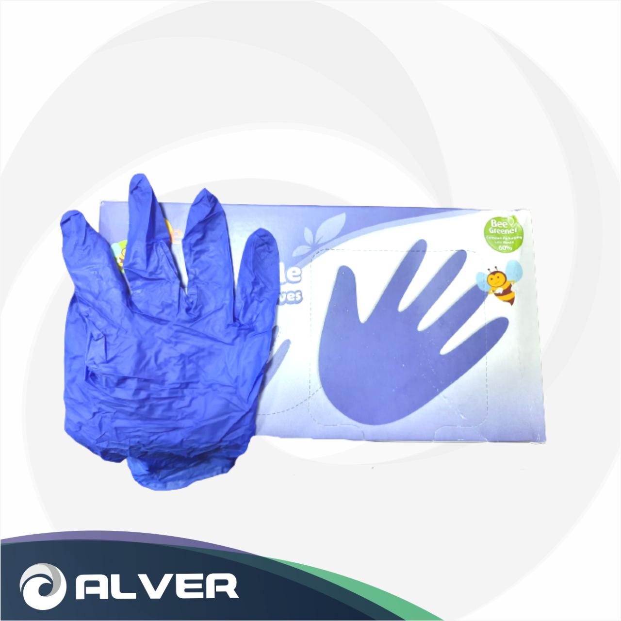 Перчатки нитриловые BeeSure синие М 300шт