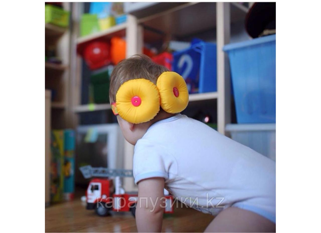 Защита  для головы желтая