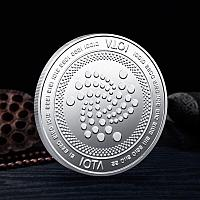 Сувенирная монета IOTA, серебро, толщина 3 мм
