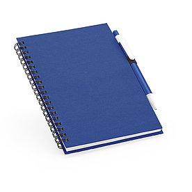 Блокнот на спирали B6 с ручкой ROTHFUSS, синий