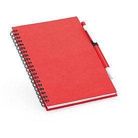 Блокнот на спирали B6 с ручкой ROTHFUSS, красный