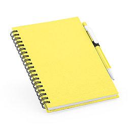 Блокнот на спирали B6 с ручкой ROTHFUSS, желтый