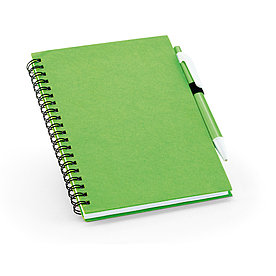 Блокнот на спирали B6 с ручкой ROTHFUSS, зеленый