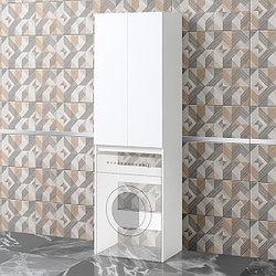 Шкаф под стиральную машину «Акваль Афина» 64 см. белый