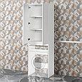 Шкаф под стиральную машину «Акваль Афина» 64 см. белый, фото 2