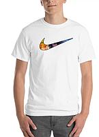 Футболка хлопковая с принтом Аниме Nike Logo Neverland унисекс