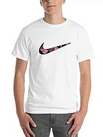 Футболка хлопковая с принтом Аниме Nike Logo Sukuna and Yuuji унисекс