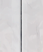 """Стеновая ПВХ панель """"Hast Plast"""" 2-х полосная 250х3000 0,75 м2 (серебро, серый мрамор глянцевый)"""