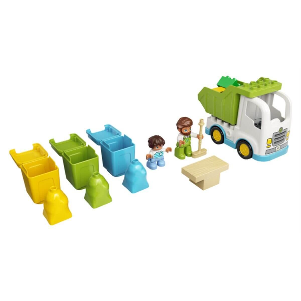LEGO DUPLO Town Мусоровоз и контейнеры для раздельного сбора мусора