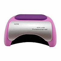 Лампа гибридная для сушки ногтей УФ CCFL/LED Professional Nail 48W, цвет розовый