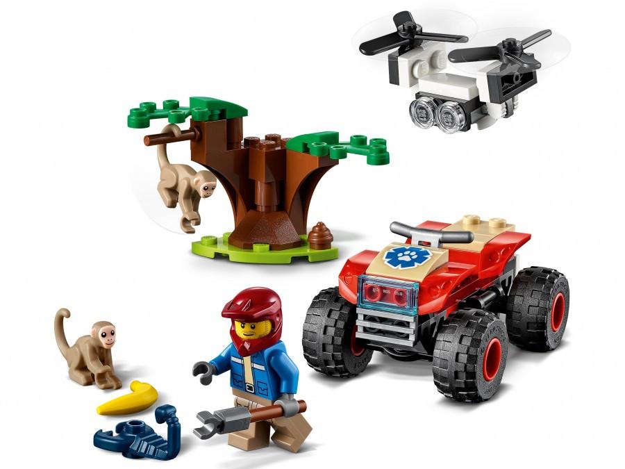 LEGO CITY Город Спасательный вездеход для зверей - фото 3