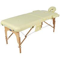 Стол массажный переносной с деревянной рамой JF-AY01 (PW2.20.10A),(МСТ-121Л) 2-х секц, (фисташковый)