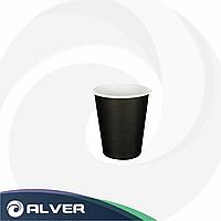 Стакан бумажный для горячих напитков ЧЕРНЫЙ 250мл 50шт в упак