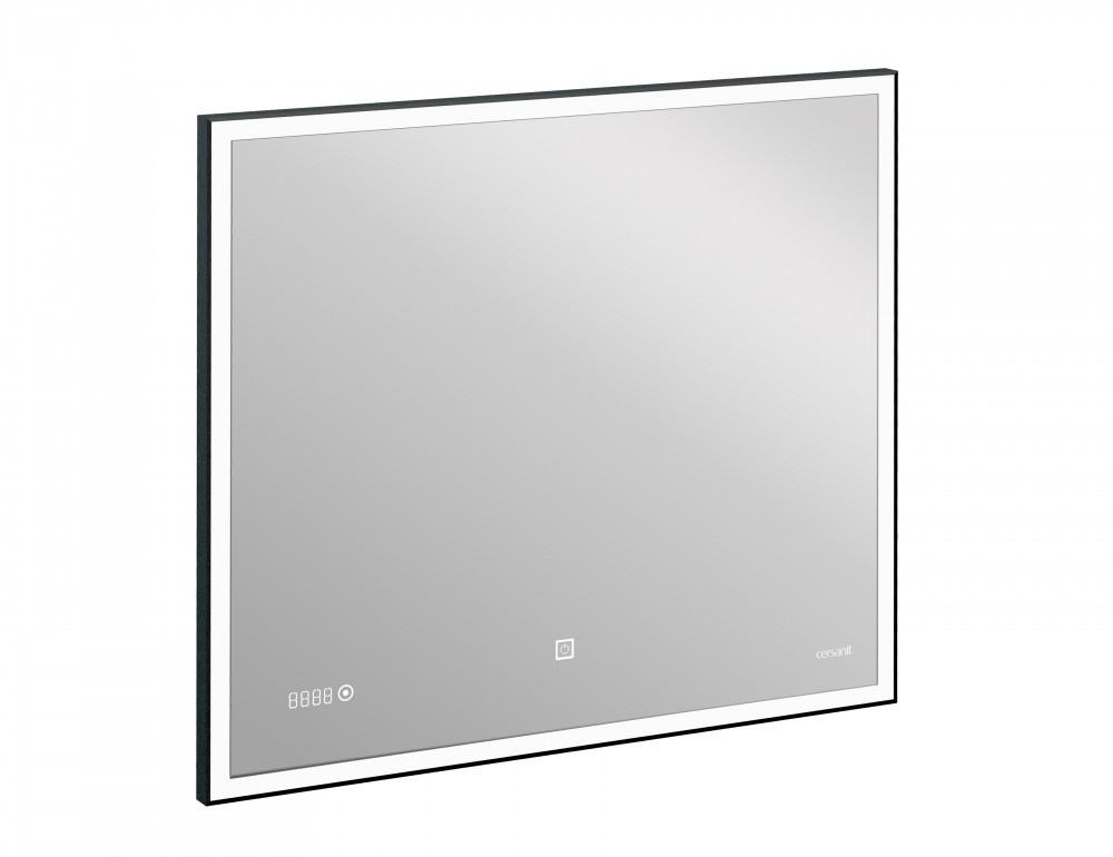 Зеркало Cersanit LED 011 design 100x80 с подсветкой часы металл. рамка прямоугольное (KN-LU-LED011*100-d-Os) - фото 3