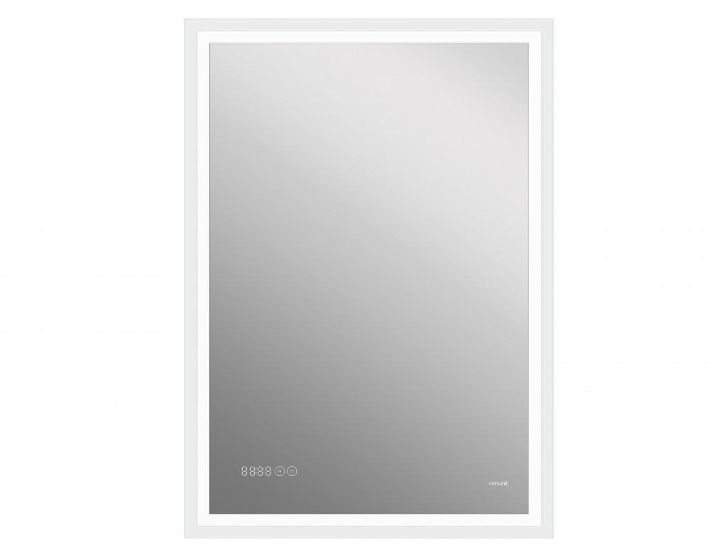Зеркало Cersanit LED 080 design pro 60x85 часы с антизапотеванием прямоугольное(KN-LU-LED080*60-p-Os)