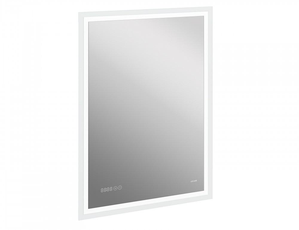 Зеркало Cersanit LED 080 design pro 70x85 с подсветкой часы с антизапотеванием (KN-LU-LED080*70-p-Os)