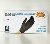 Перчатки S 100шт винило-нитрил Blend Gloves черные