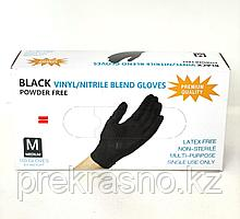 Перчатки M 100шт винило-нитрил Blend Gloves черные