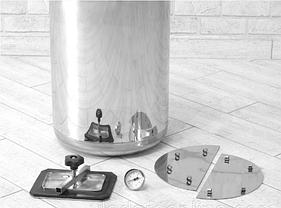 Автоклав электрический Гуд 8-electro (универсальный, 8 банок 0,5 л). Крышка поджимается изнутри, фото 2