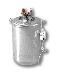 Автоклав электрический Гуд 24-electro (универсальный, 24 банки 0,5 л). Крышка поджимается изнутри