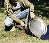 Сковорода-диск для пикника 45 см нержавеющая сталь, фото 2
