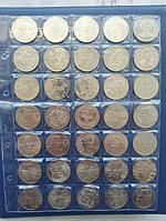 Набор юбилейных монет Казахстана из разных серий.