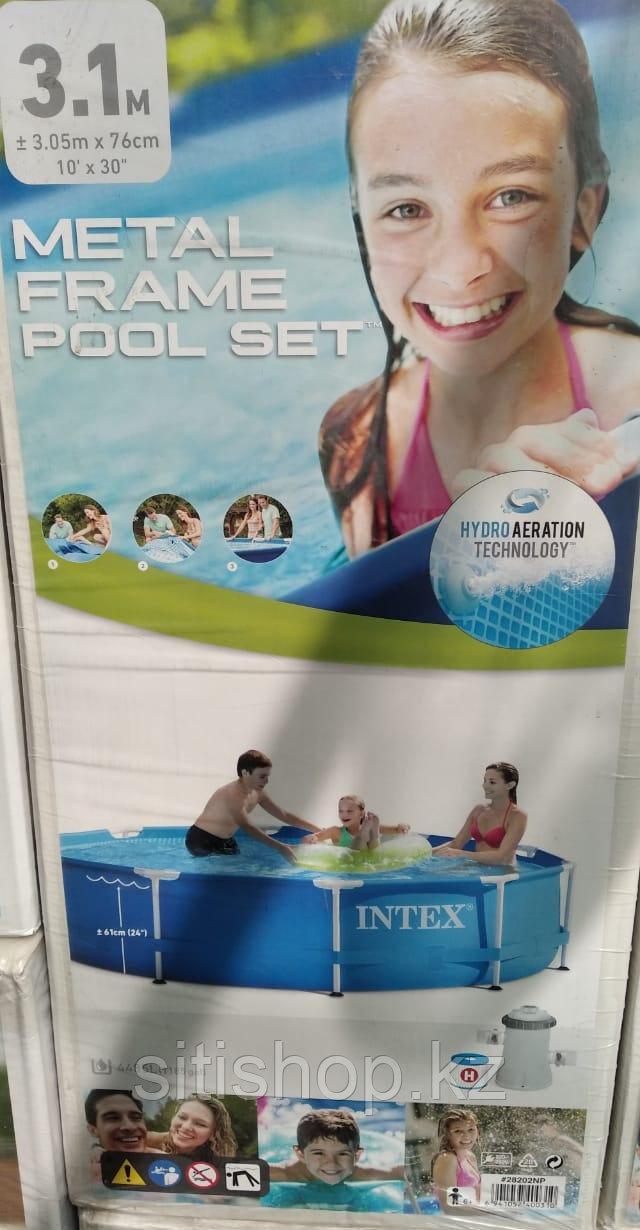 Бассейн Intex каркасный с фильтром для воды в комплекте 305*76