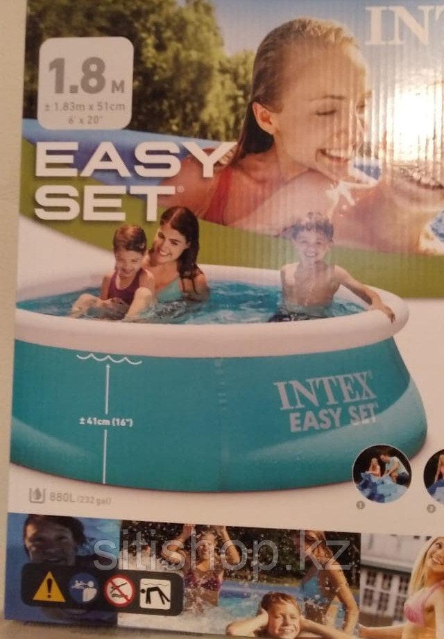 Акция Надувной бассейн Intex 28101, 183х51см полукаркасный Детский