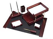 Набор настольный Good Sunrise деревянный, 7 предметов, махагон