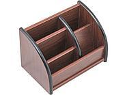 Органайзер Pen Stand деревянный, 5 отделений, коричневый