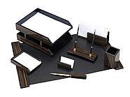Набор настольный Good Sunrise деревянный, 8 предметов, черный