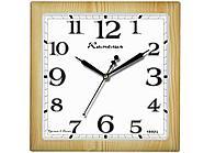"Часы настенные Камелия ""Сосна светлая"", квадратные, 29х29х3,5,  светло-коричневая рамка"