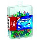 Гвоздики для доски DELI, цветные, 100 штук в пластиковой коробочке