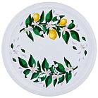 """Поднос сервировочный Agness """"лимоны"""" диаметр=40 см без упаковки (кор=36шт.)"""