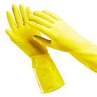 Перчатки резиновые OfficeClean, желтые, размер S