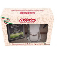 Кофеварка Carraro Brasile на 6 порций и кофе молотый 250 гр