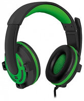 Наушники-гарнитура игровые Defender Warhead G-300 зеленый, кабель 2,5 м