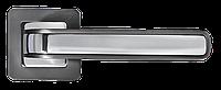 """MORELLI Ручка дверная на квадратной основе DIY MH-46 GR/CP-S55 """"Eon"""", графит/полированный хром"""
