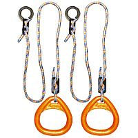 Кольца гимнастические треугольные, оранжевые
