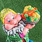 """Садовая фигура """"Гном с овощами"""", разноцветный, 37 см, микс, фото 2"""