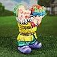 """Садовая фигура """"Гном с овощами"""", разноцветный, 37 см, микс, фото 5"""