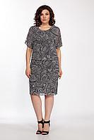 Женское осеннее шифоновое большого размера платье FOXY FOX 1588 черный_зебра 50р.