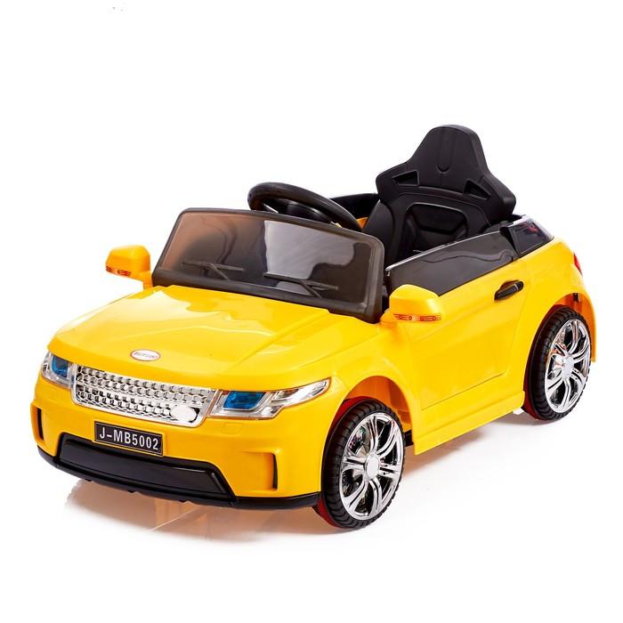 Электромобиль «Эвог», 2 мотора, радиоуправление, FM, USB, цвет желтый