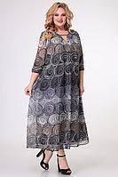 Женское летнее шифоновое серое нарядное большого размера платье Algranda by Новелла Шарм А3747 64р.