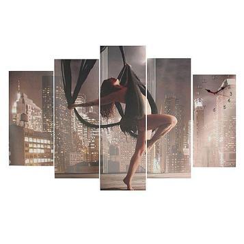 Часы настенные модульные «Девушка на качелях», 80 × 140 см